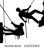 rock climber  climber. | Shutterstock .eps vector #126325343