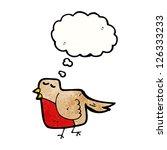 cartoon robin | Shutterstock .eps vector #126333233