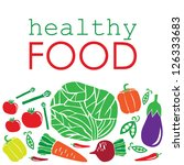 healthy food card design.... | Shutterstock .eps vector #126333683