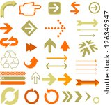multiple arrows | Shutterstock .eps vector #126342947