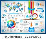 infographic elements   set of... | Shutterstock .eps vector #126343973