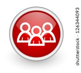 forum red circle web icon on... | Shutterstock . vector #126344093