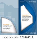 blue brochure vector background ... | Shutterstock .eps vector #126348317