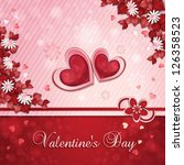 valentine's day card with... | Shutterstock .eps vector #126358523