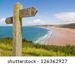 Coastal Path With A Sign ...