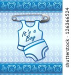 Baby Shower it's a Boy Newborn - stock photo