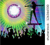Psychedelic Discotheque Dance Party - stock photo