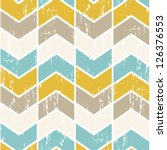 Seamless vector chevron pattern. Scratched chevron background. | Shutterstock vector #126376553