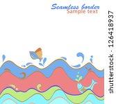 sea background. cartoon... | Shutterstock . vector #126418937