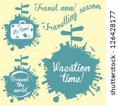 world tour logo icons set ...   Shutterstock .eps vector #126428177