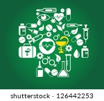 medical cross with health icon...   Shutterstock .eps vector #126442253