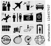 airport icons set.vector... | Shutterstock .eps vector #126457937