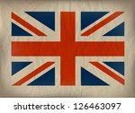 vintage union jack flag on...   Shutterstock .eps vector #126463097