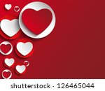 Vector - Valentine Day Heart on White Button - stock vector