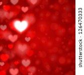 heart shape and light vector... | Shutterstock .eps vector #126470333