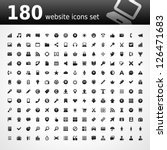 web site vector icons set | Shutterstock .eps vector #126471683