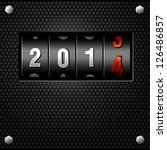 2014 new year analog counter... | Shutterstock .eps vector #126486857