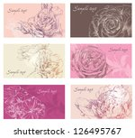 Hand drawing card flower background