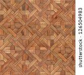 classical wooden parquet... | Shutterstock . vector #126504983