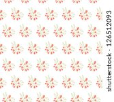 seamless vintage pattern with... | Shutterstock .eps vector #126512093