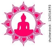meditation   buddha   lotus... | Shutterstock .eps vector #126516593