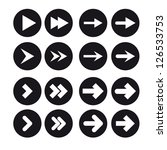 a set of white arrows in black... | Shutterstock .eps vector #126533753