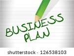 business plan text illustration ... | Shutterstock . vector #126538103
