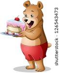 a vector illustration of a cute ... | Shutterstock .eps vector #126543473