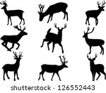 deer collection vector | Shutterstock .eps vector #126552443