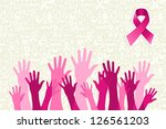 breast cancer awareness hand... | Shutterstock .eps vector #126561203