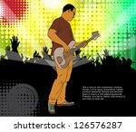concert background. vector