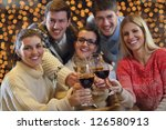 group of happy young people... | Shutterstock . vector #126580913