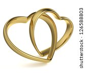 golden rings in the shape of a... | Shutterstock . vector #126588803