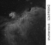 The Seagull Nebula imaged in Hydrogen Alpha - stock photo