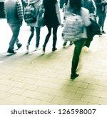 walking business people rushing ... | Shutterstock . vector #126598007
