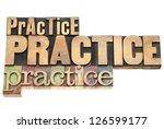 practice  practice  practice  ... | Shutterstock . vector #126599177