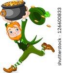 cute  cartoon leprechaun... | Shutterstock .eps vector #126600833
