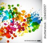 splash background. eps10 vector | Shutterstock .eps vector #126602057