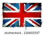 Grungy UK flag. EPS 8 vector illustration. - stock vector