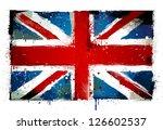 Grungy Uk Flag. Eps 8 Vector...