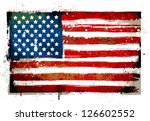 Grungy USA flag. EPS 8 vector illustration. - stock vector