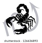 illustration of  scorpio the... | Shutterstock .eps vector #126636893