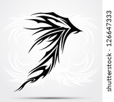 dragon tattoo tribal | Shutterstock .eps vector #126647333
