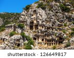 Ancient Lycian Myra Rock Tomb...