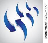 rising and descending arrows on ... | Shutterstock .eps vector #126674777