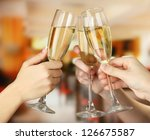 corporate party sparkling... | Shutterstock . vector #126675587