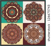 circle ornament  ornamental... | Shutterstock .eps vector #126675743