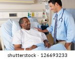 doctor visiting senior male... | Shutterstock . vector #126693233