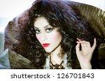 glamorous vampire beauty... | Shutterstock . vector #126701843