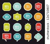 labels of discounts over black... | Shutterstock .eps vector #126710807